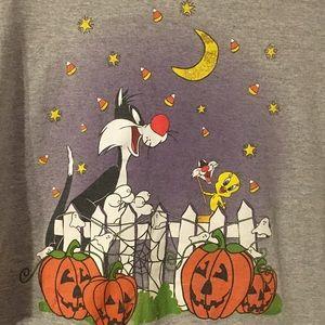 Vintage Sylvester Tweety Bird Halloween Shirt 90s